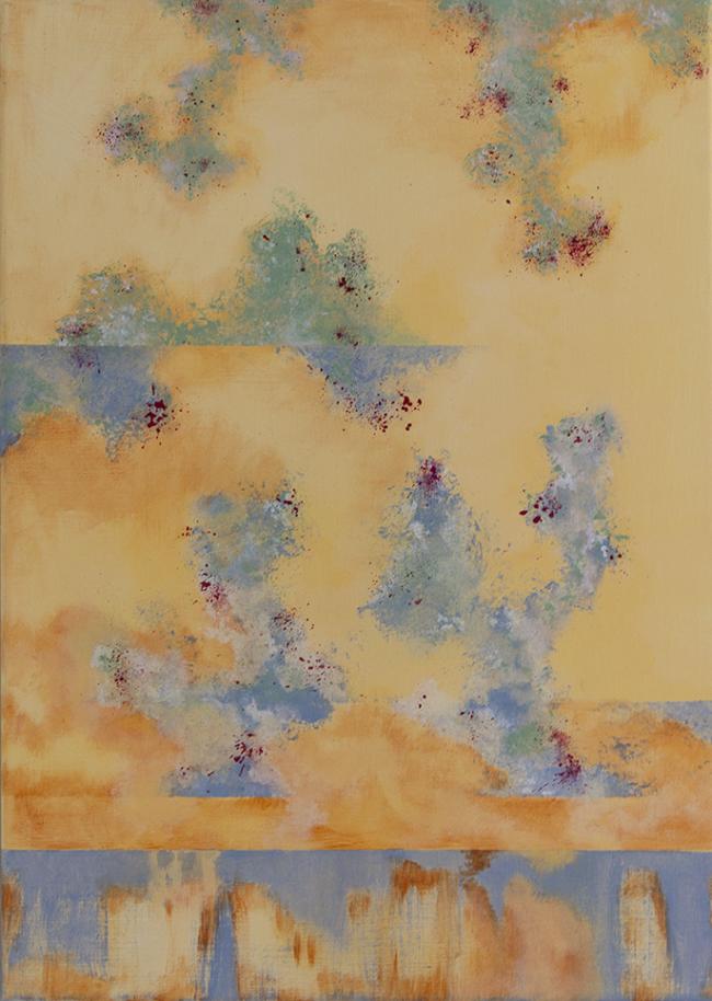 Sandy Desert, 70 x 50 CM, Linnen op canvas, Mixed Media Painting